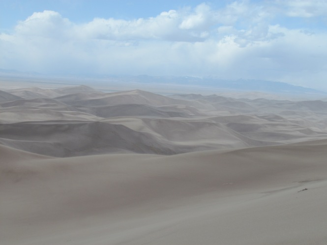 Sand Dunes with San Juan Mountains in the distance