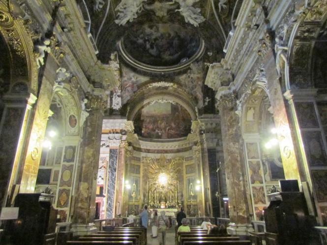 Interior of Santa Maria della Vittoria