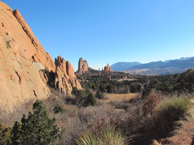 My favorite view in Garden of the Gods, Colorado Springs, Colorado. January often does not have snow along the Front Range