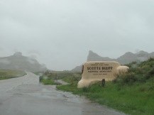 Scott's Bluff in the rain