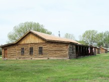 Reconstructed cavalry barracks, used as prison for the Northern Cheyenne, from which they fled
