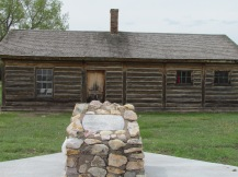 Reconstructed guardhouse, intended prison for Crazy Horse.