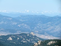 Hazy view of the western mountains