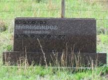 Mari's headstone