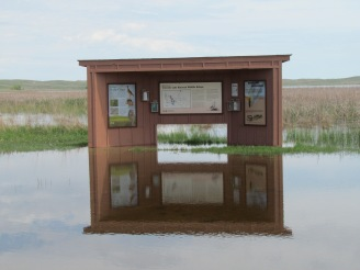 Flooding at Crescent Lake NWR
