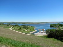 View of Lage Ogallala from the dam
