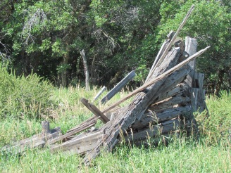 Collapsed outbuilding