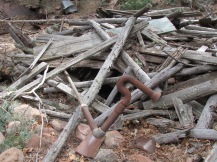 Remnants of the cabin