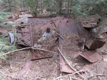 Old metal roof and bedspring