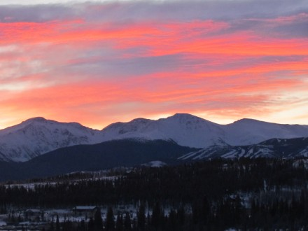 Sunrise over the Rockies