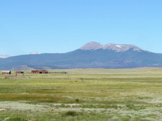 Buffalo Peaks on the western horizon