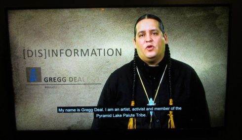Gregg Deal, Artist, Activist, and Co-curator of (Dis)information exhibit, Pyramid Lake Paiute