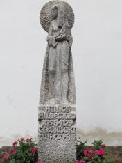 Hildegard statue in Bermersheim, her presumptive birth town