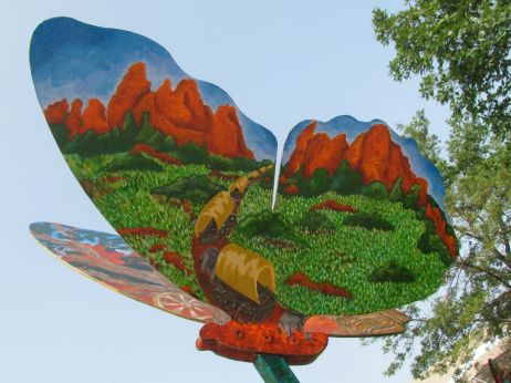 Garden of the Gods Wagon Train by Hope L. AuBuchon
